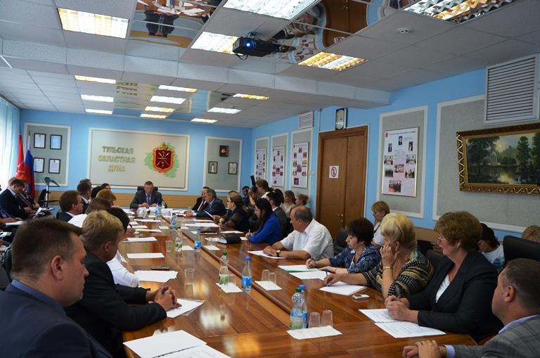 Второе заседание Совета по взаимодействию Тульской областной Думы 6-го созыва и представительных органов муниципальных образований Тульской области