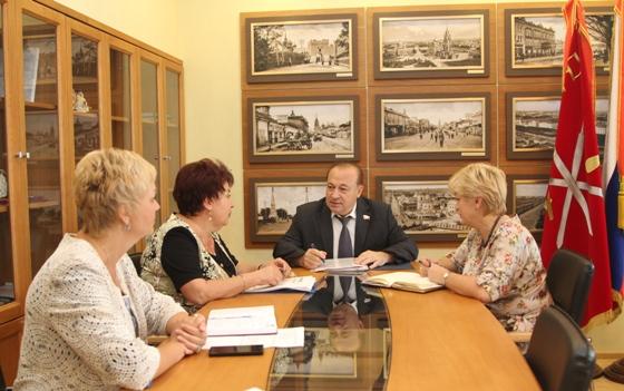 Совещание по вопросам взаимодействия с Тульской городской Думой