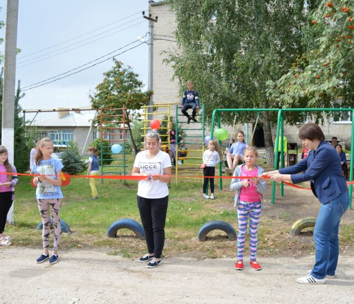 Открытие детских и спортивных площадок в Веневском районе