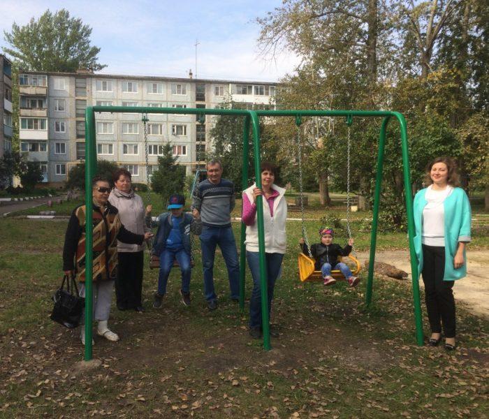 Новые детские площадки города Донского