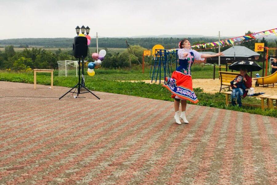 Открытие детско-спортивной площадки в с.Першино Алексинского района