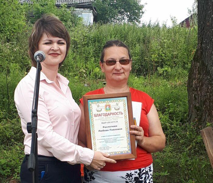 В д. Андреевка Суворовского района  открыта детская площадка