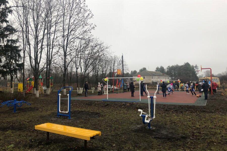 Открытие спортивной площадки в д. Новое Жуково Плавского района