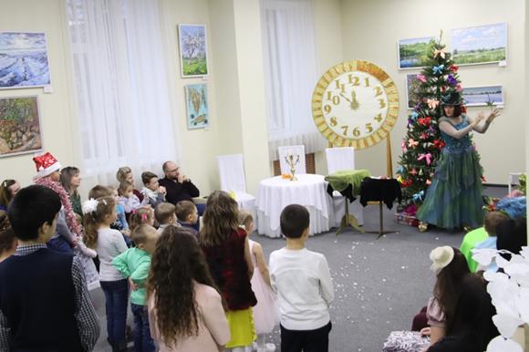 Открытие гагаринской елки в Плавском районе