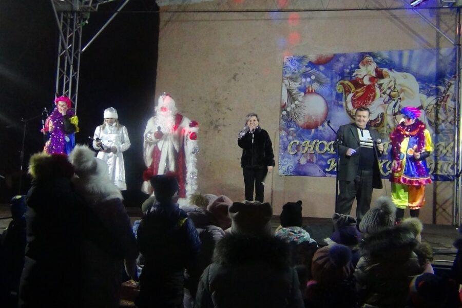 Открытие центральной елки в Арсеньевском районе