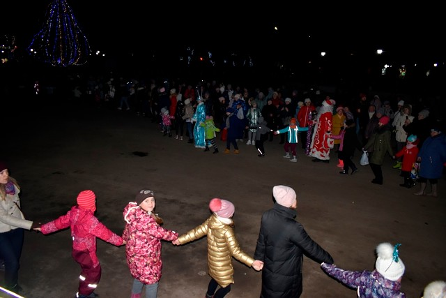Открытие новогодней елки в Белевском районе.