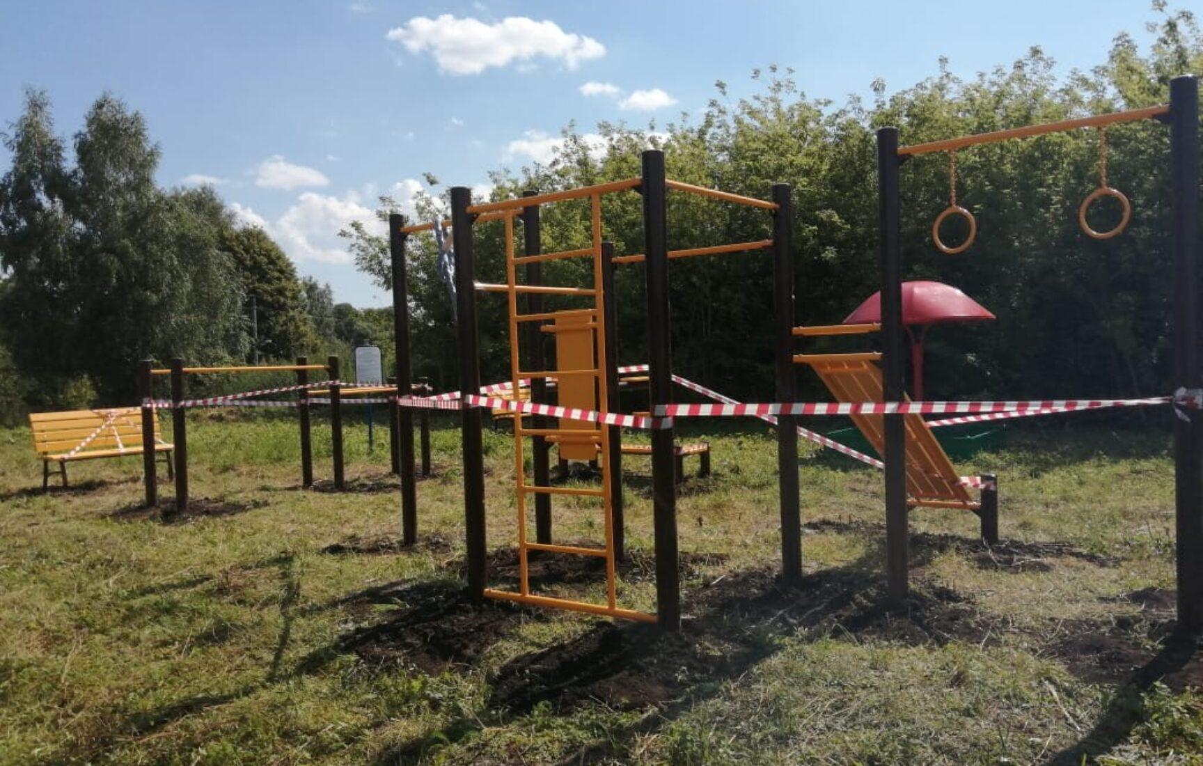 В деревне Задонщино Кимовского района началось обустройство комплексной зоны отдыха