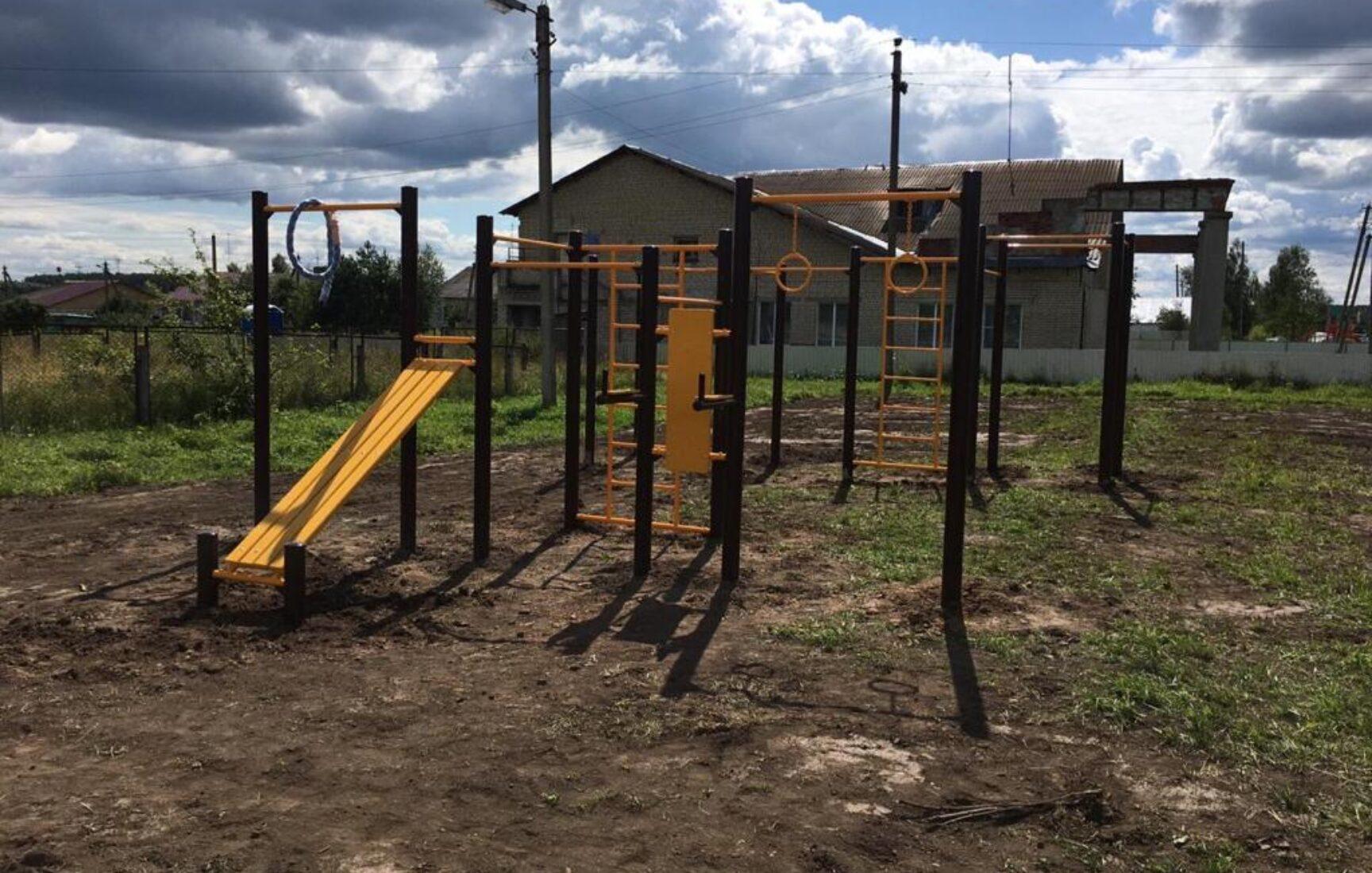 В деревне Бураково Ясногорского района обустраивают спортплощадку «Территория здоровья»