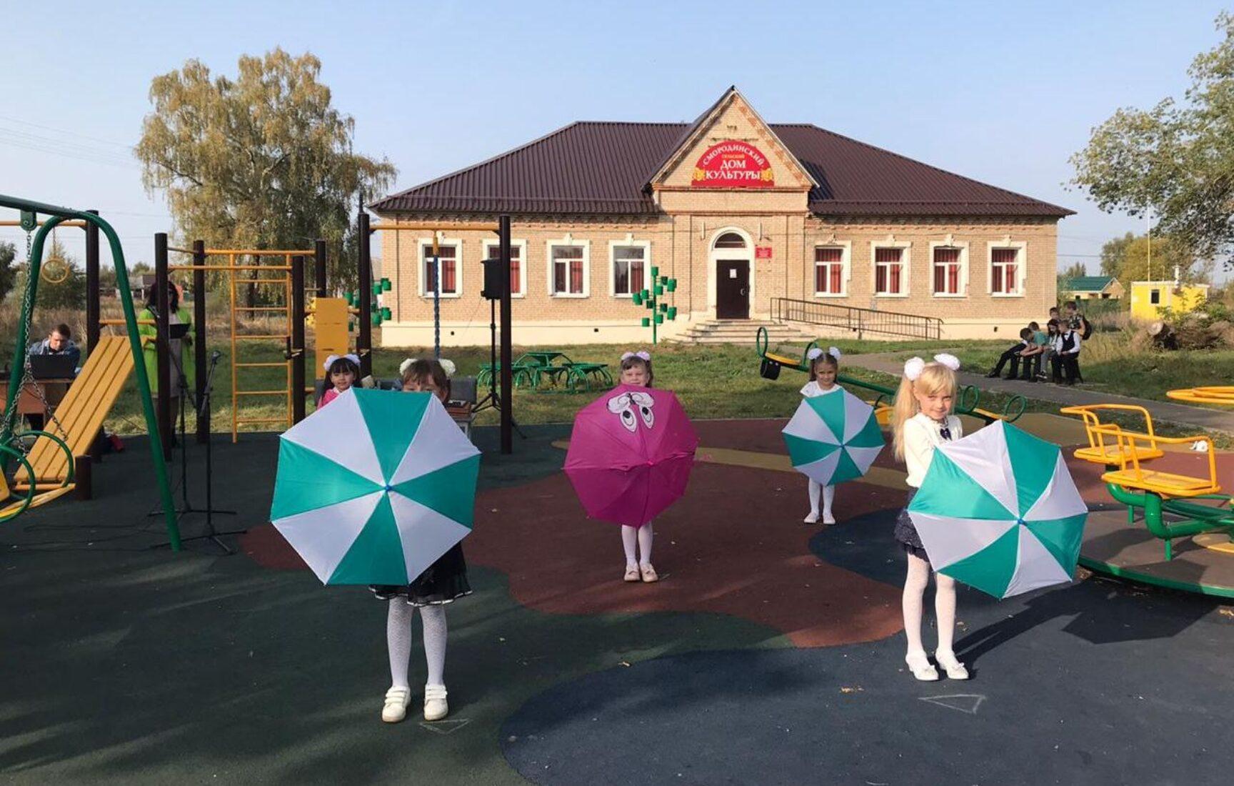 В селе Узловского района в праздничной обстановке открыт «Смородиновый сквер»