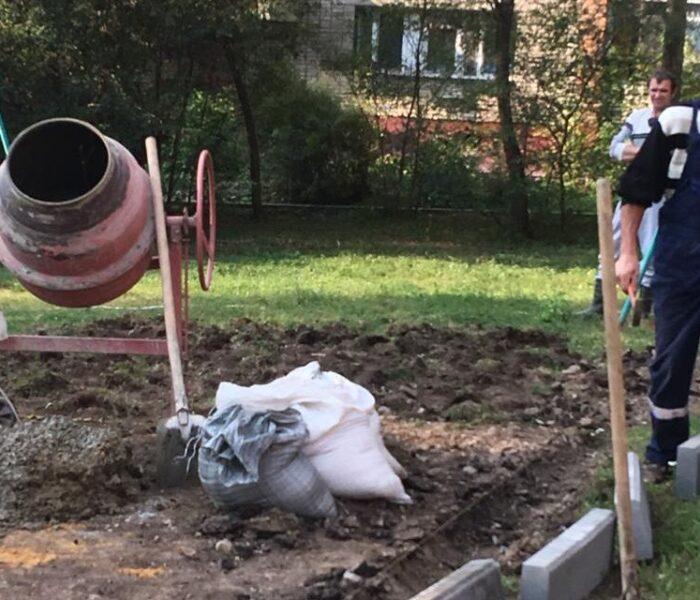 В Туле на улице Пушкинской начались работы по благоустройству территории