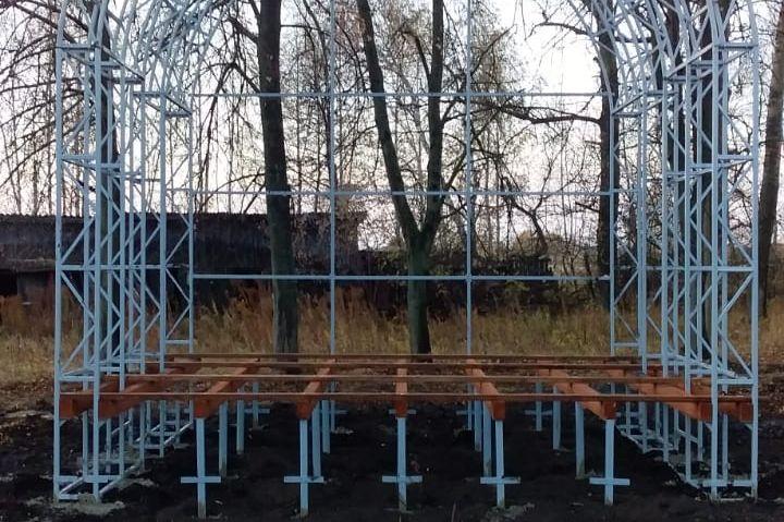 В поселке Товарковский Богородицкого района появится сцена для праздников и мероприятий