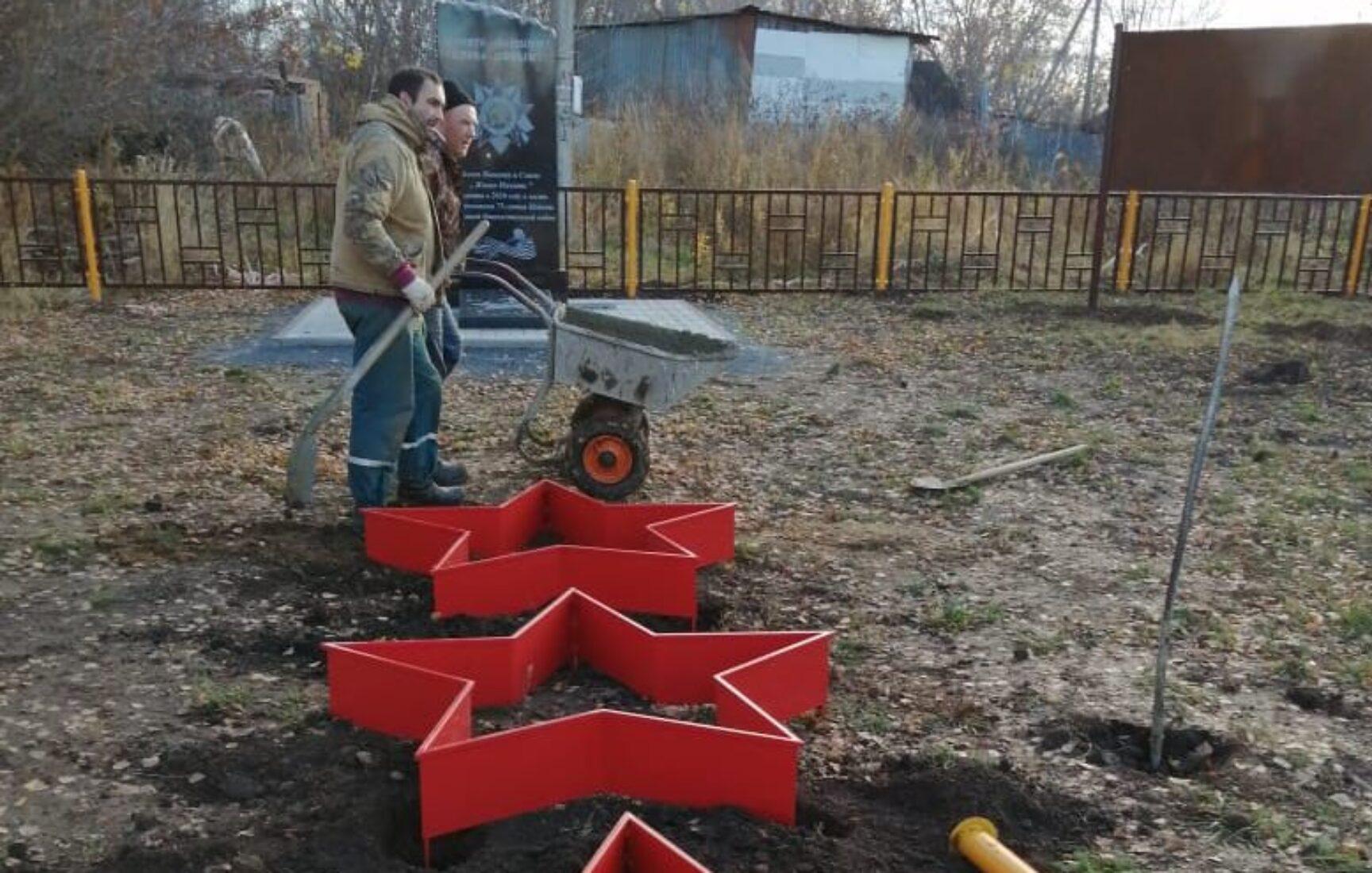 Продолжаются работы по реализации проекта сельского старосты п. Красный Яр Киреевского района