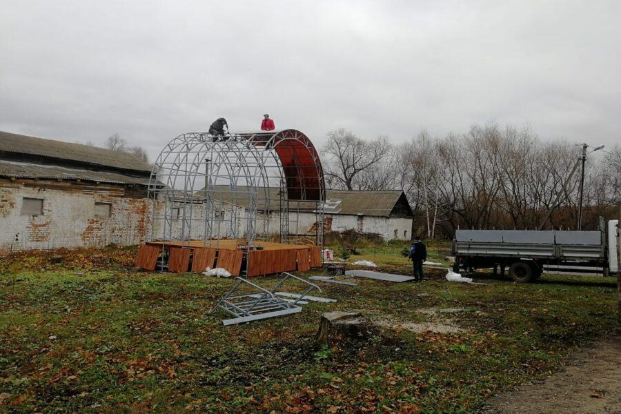 Продолжатся работы по обустройству сценического комплекса в посёлке Красный Богатырь города Новомосковска