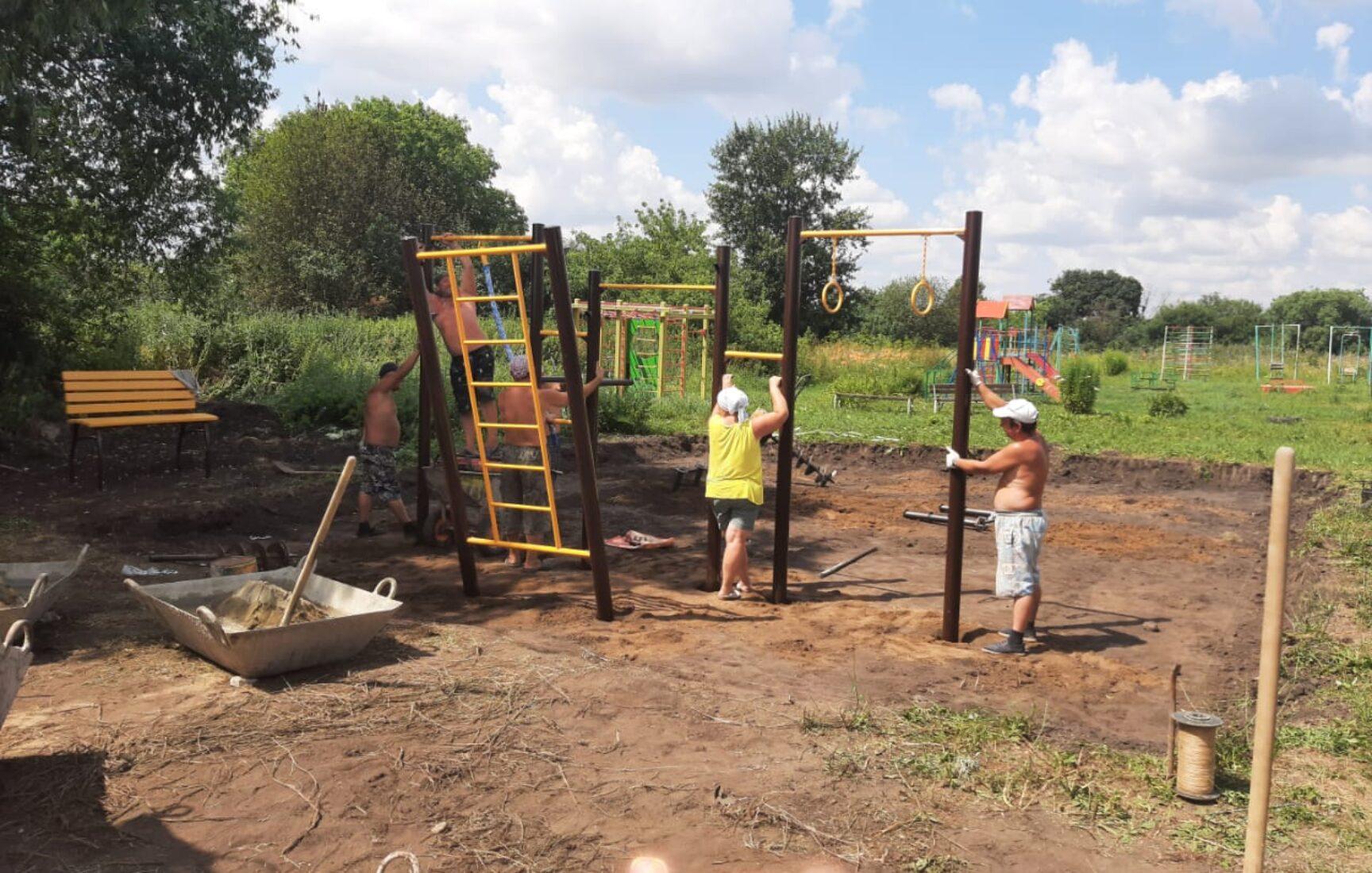 В Тульской области началось строительство детских и спортивных площадок в рамках конкурса инициативных проектов сельских старост и ТОС