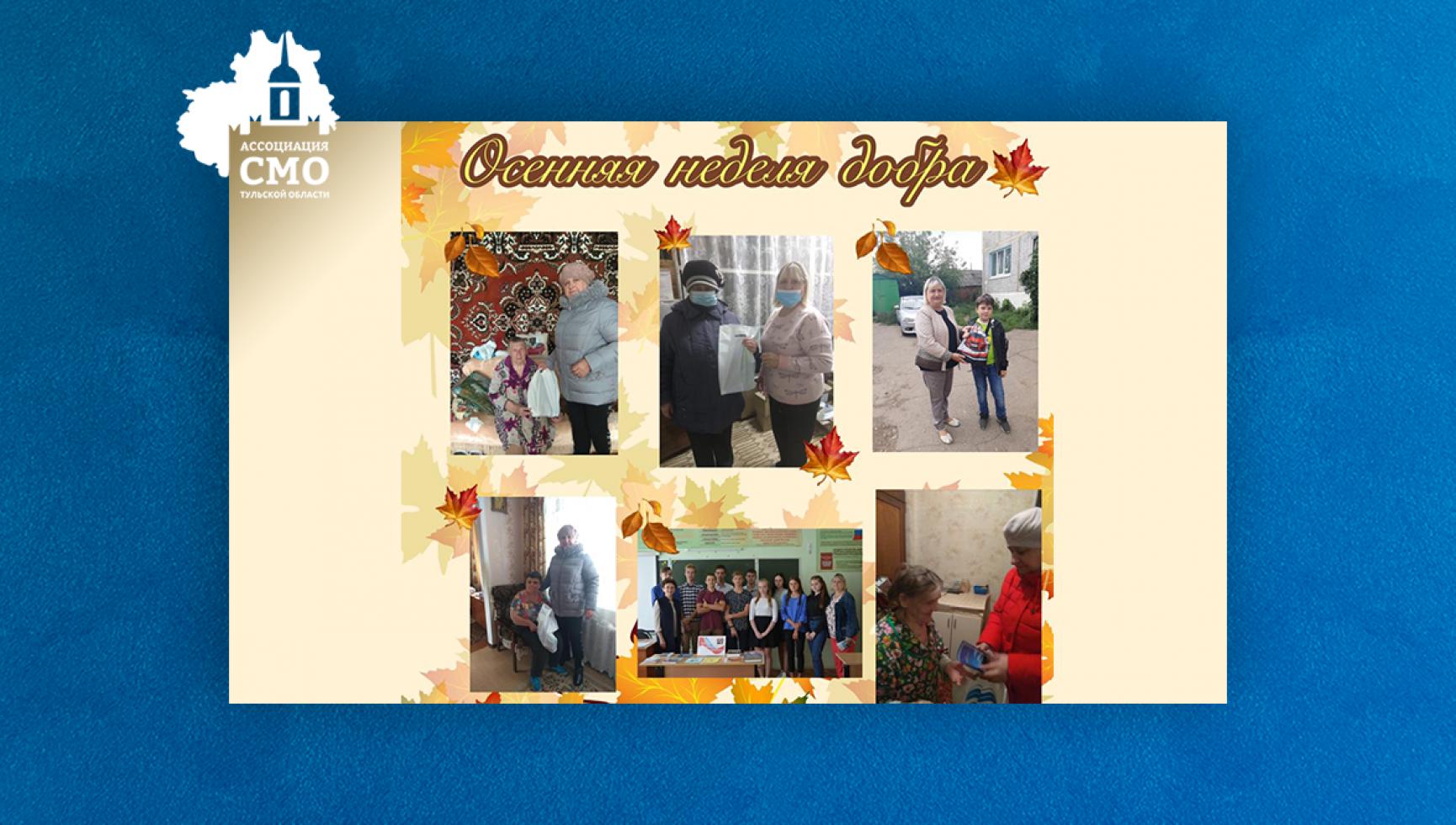 ТОС «Сокольники-2»  Новомосковска поддержал благотворительную акцию «Осенняя неделя добра»