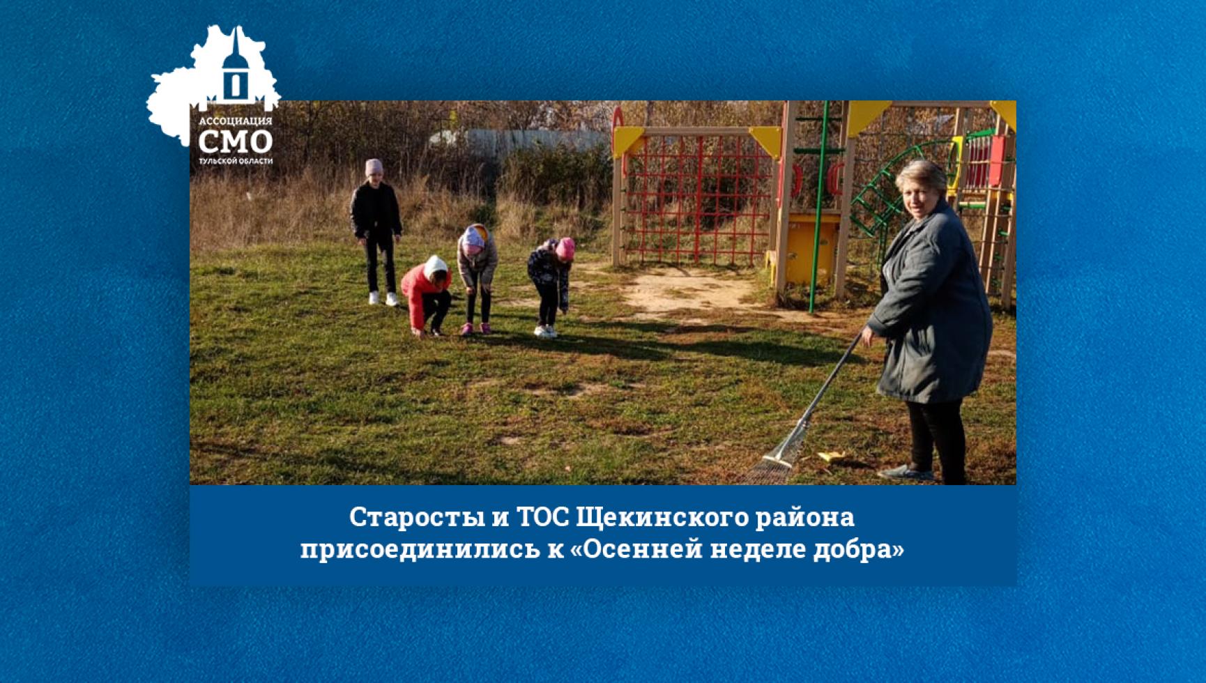Старосты и ТОС Щекинского района присоединились к «Осенней неделе добра»